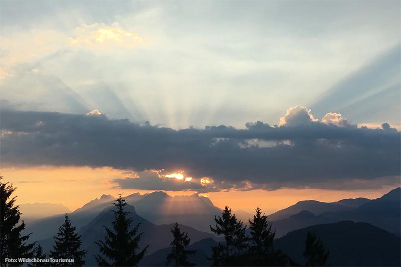 Einen Sonnenaufgang erleben von der malerischen Wildschönau