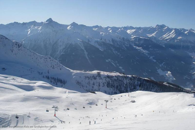 Blick zum Goldried im Skigebiet Großglockner Resort Kals-Matrei