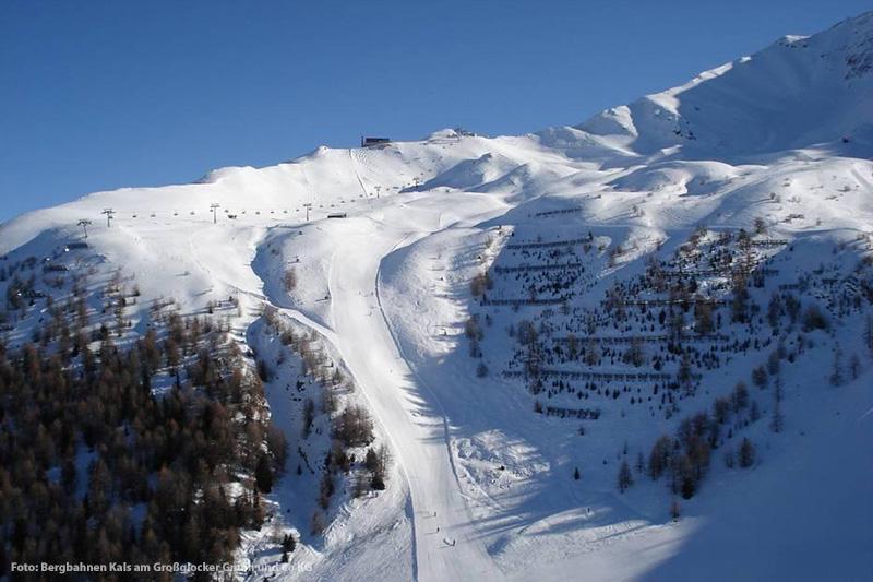 Steile Abfahrt Großglockner Resort Kals-Matrei im Nationalpark Hohe Tauern - Osttirol