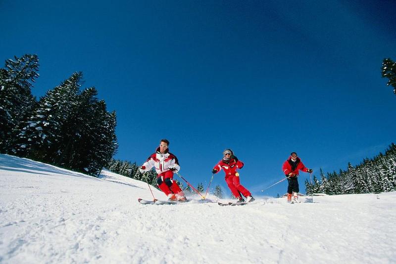 Skigebiet Kolbensattel in den Ammergauer Alpen in Oberbayern