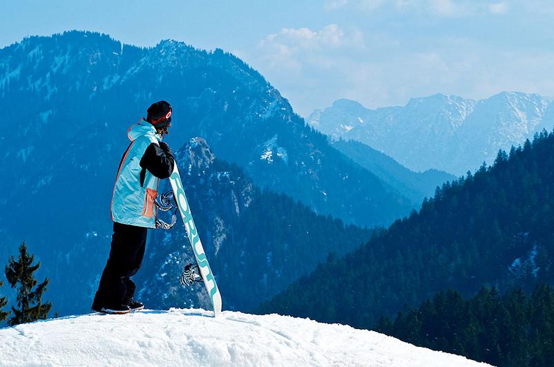 Snowbordfun in Oberammergau-Kolbensattel