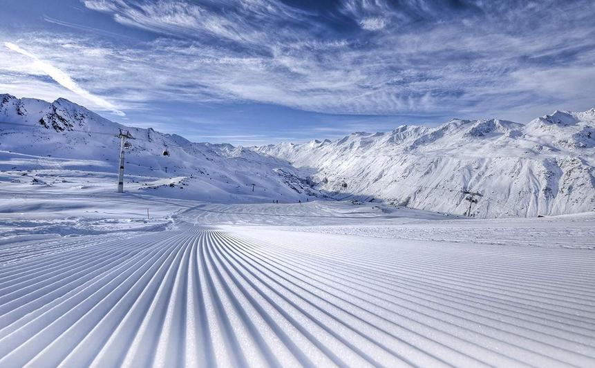 Perfekt präparierte Skipiste Obergurgl Hochgurgl in Tirol