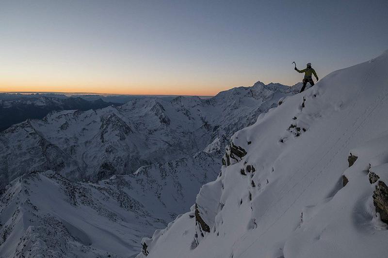 Sonnenuntergang am Gipfel in Obergurgl-Hochgurgl