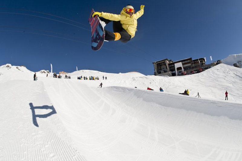 Snowboarder in Oberstdorf - Fellhorn/Kanzelwand