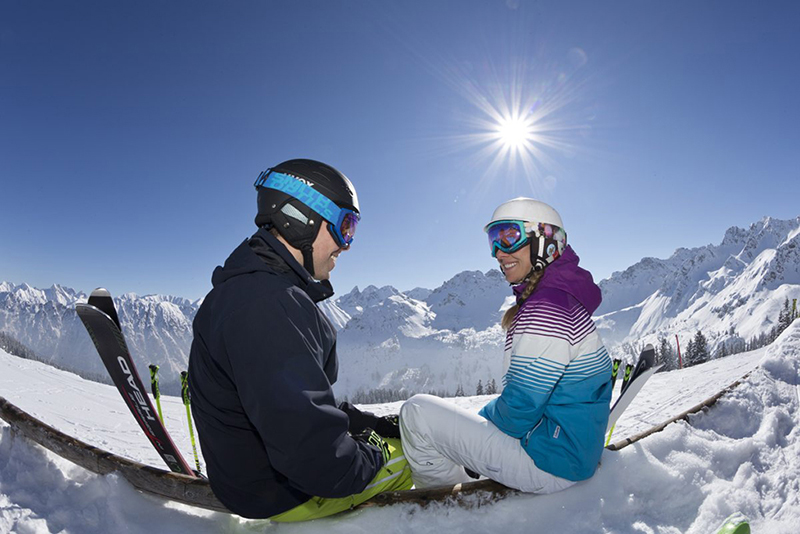 Skigebiet Fellhorn/Kanzelwand in der Region Oberstdorf im Allgäu