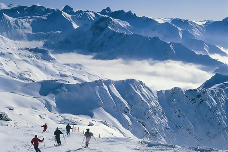 Gipfelabfahrt Nebelhorn