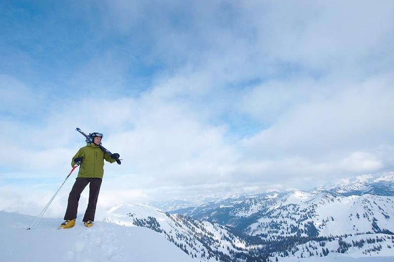 Fernsicht auf die Skiarena Steibis