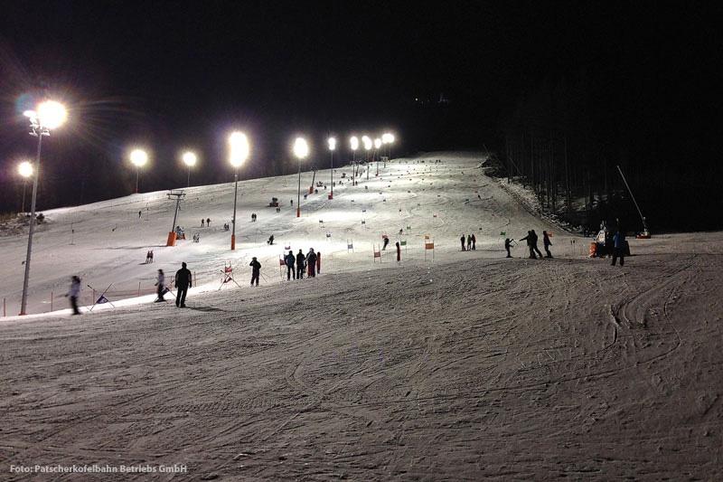 Nachtskifahren in Patscherkofel
