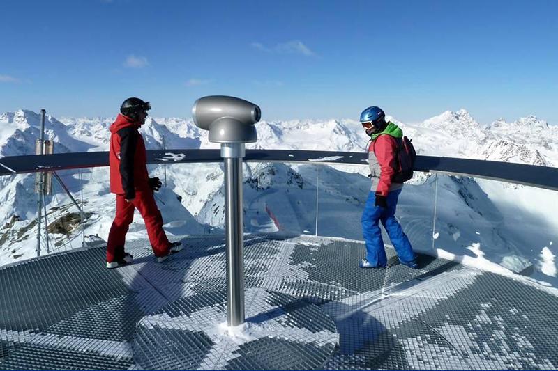 Aussichtsplattform des Pitztaler Gletschers