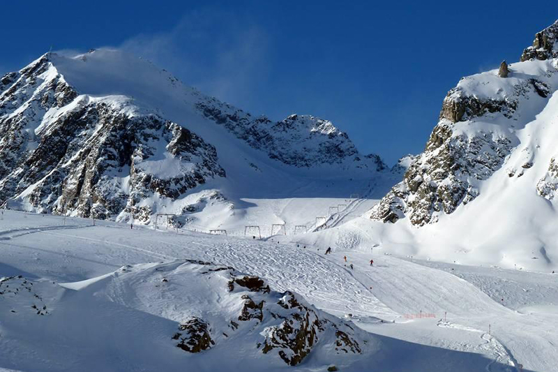 Gletscherpisten am Brunnenkogel