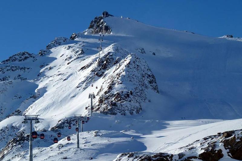Höchste Gondelbahn in Österreich am Pitztaler Gletscher in Tirol