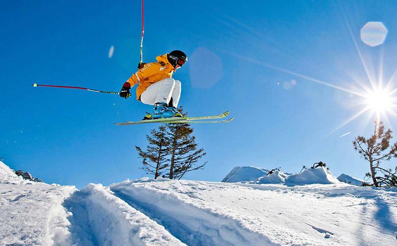 Freestyle Ski im Skigebiet Oberau-Roßfeld