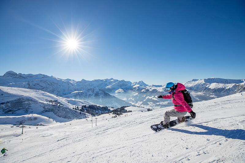 Snowboarden in Adelboden - Berner Oberland