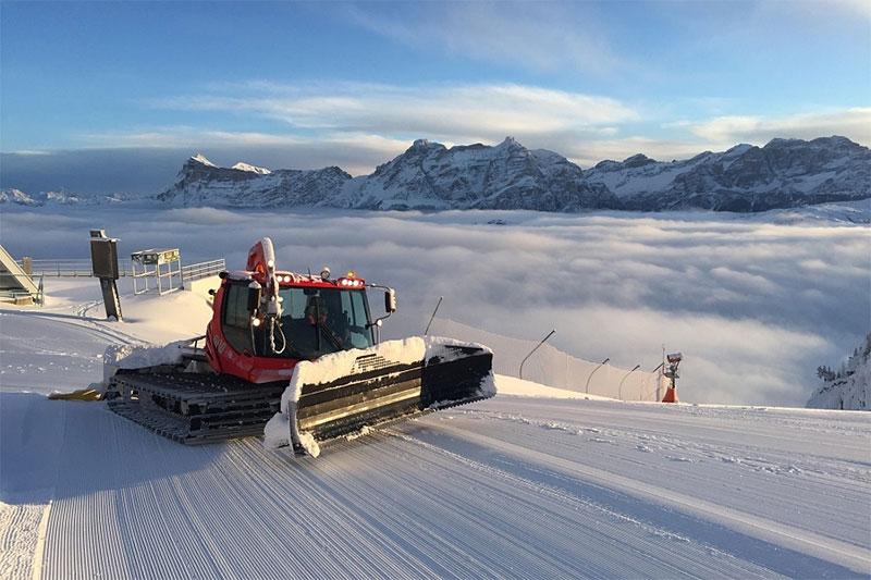 Skifahren in Südtirol und in Alta Badia bedeutet gepflegte Pisten