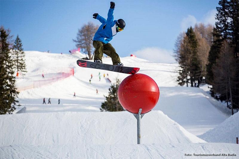 Skigebiet für Profi-Boarder und Einsteiger