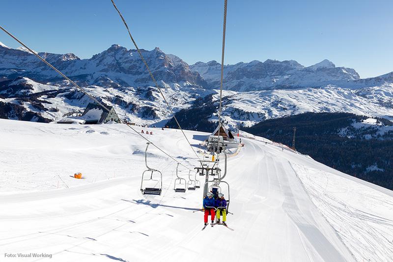 Lift im Skigebiet Alta Badia