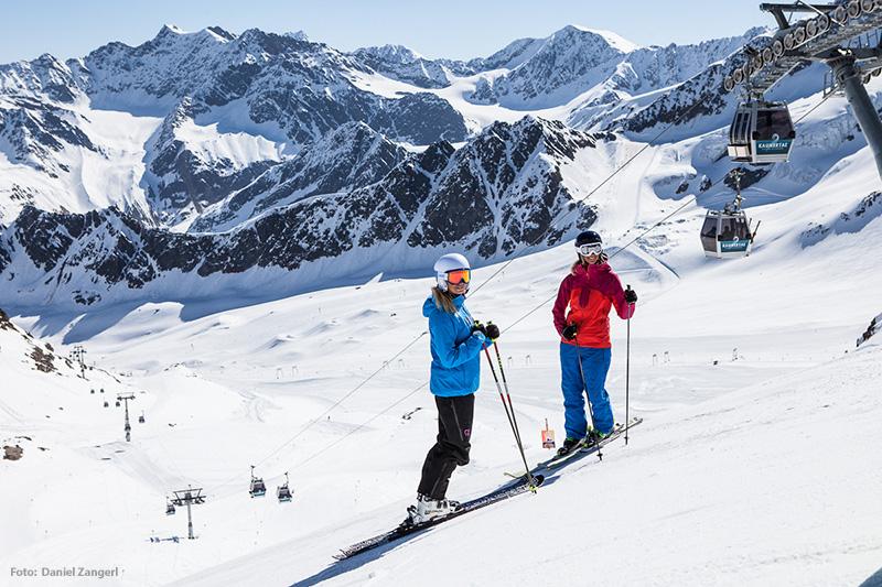 Skifahren im Skigebiet Fendels