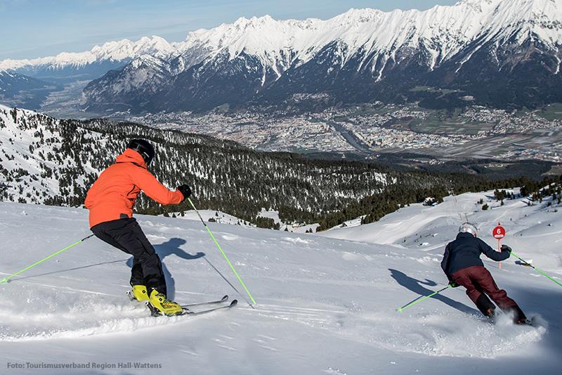 Skifahren im Skigebiet Glungezerbahn