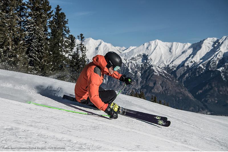 Abfahrt des Skigebietes