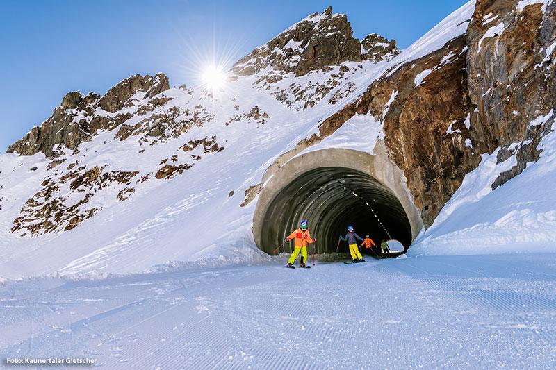 Skifahren im Wiesejaggl Tunnel