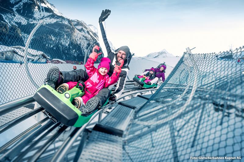 Ganzjahres-Rodelspaß mit dem Alpine Coaster