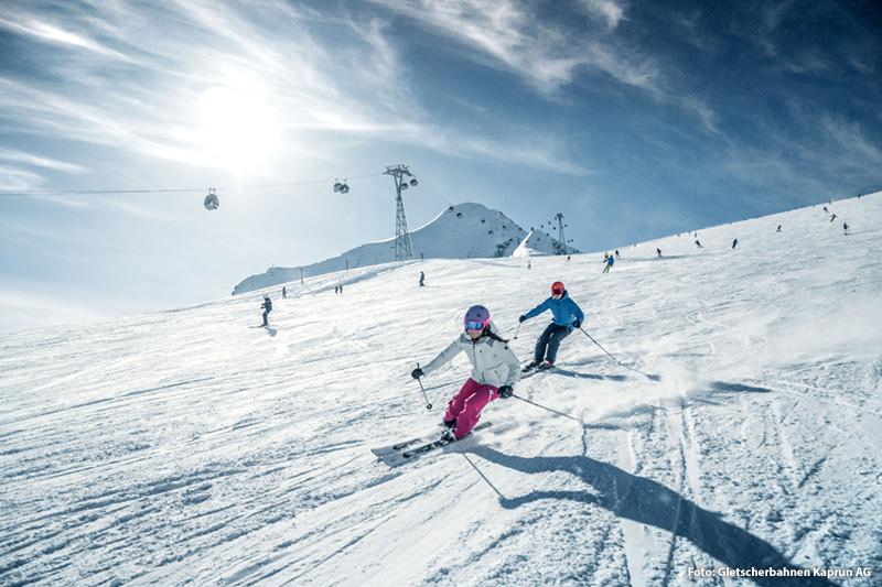 Skifahren von 1.976 m bis 3.029 m