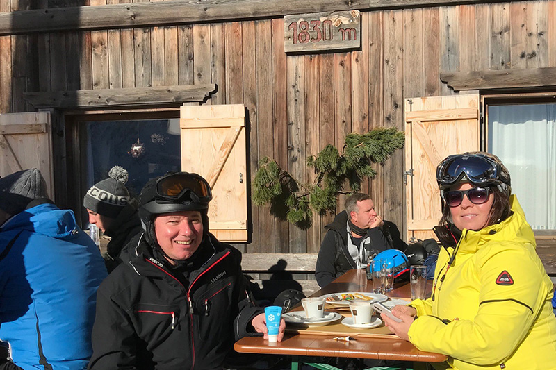 Ingo Diesch (ALPenjoy) und Gundis Apel haben das Skigebiet getestet