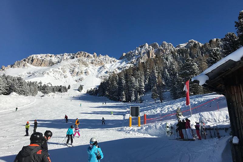 Skipiste in Obereggen