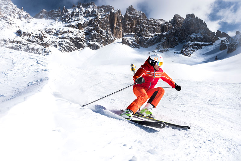 Skigebiet Skicenter-Latemar in den Dolomiten