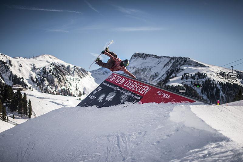 Snowpark, Nightpark und Halfpipe in Obereggen