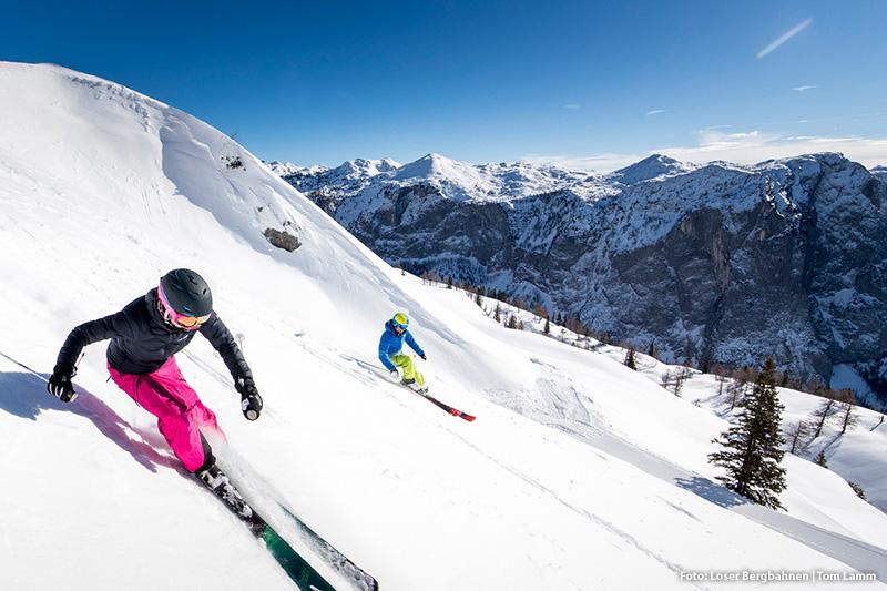 Skifahren im Skigebiet Loser Altaussee
