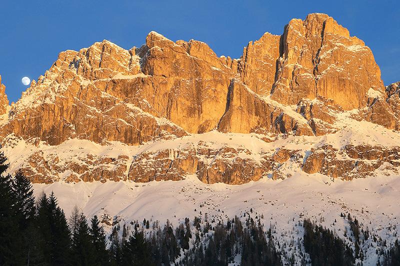 Blick auf den Rosengarten - Dolomiten
