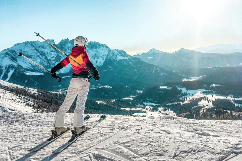 Skifahren im Eggental