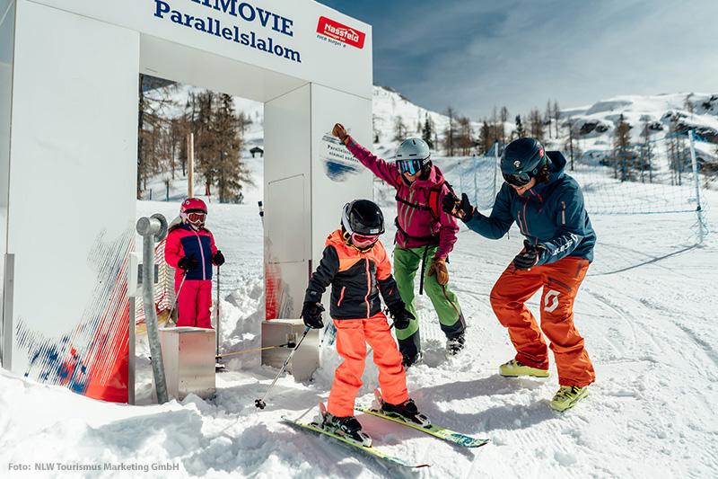 Parallelslalom im Skigebiet