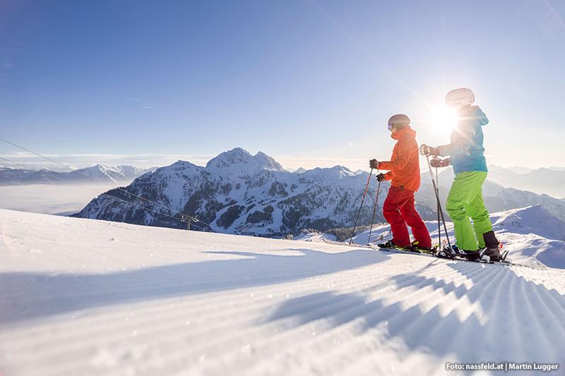 Sonnenski gefällig? Kärntens sonnigstes Skigebiet: Nassfeld