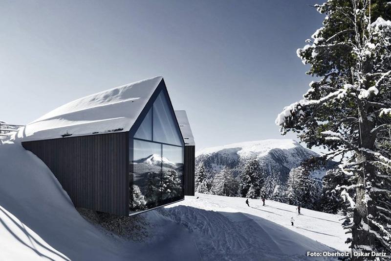 Hochgenuss für Wintersportler und Gipfelgourmets in der Oberholz-Hütte