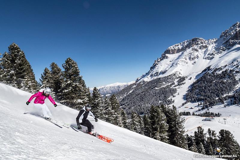 Obereggen gehört auch zum Dolomiti-Superski-Karussell
