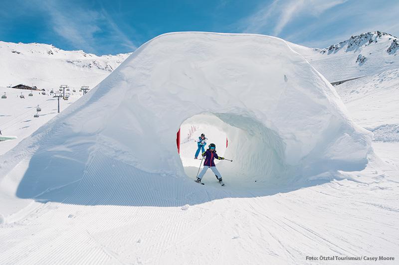 Funslopel im Skigebiet Obergurgl-Hochgurgl