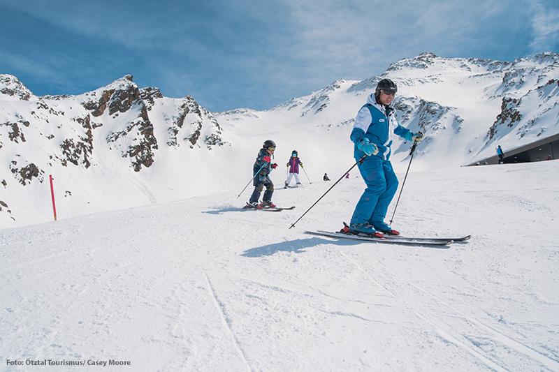 Tour mit dem Skilehrer