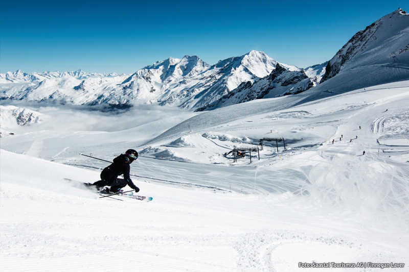 Skifahren in der Region Wallis - Skigebiet Saas-Fee