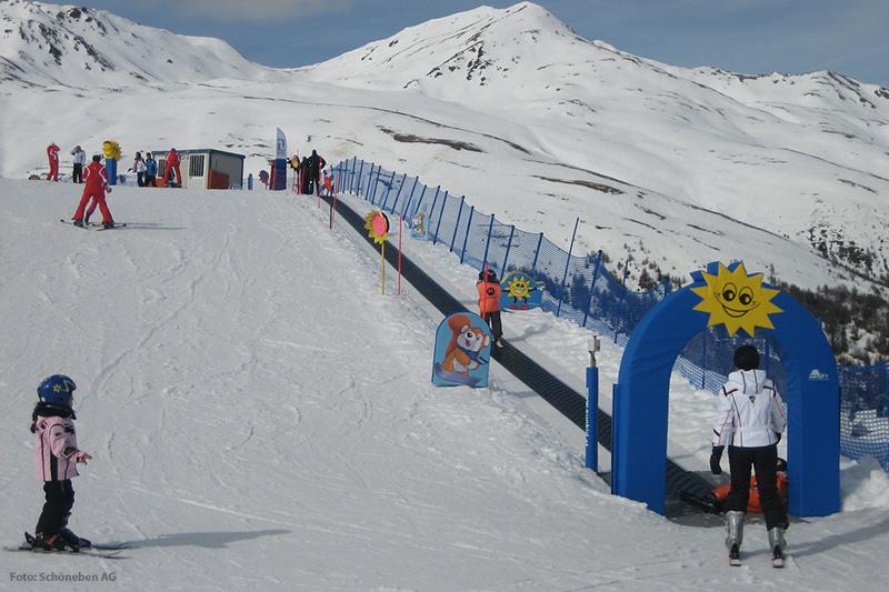 Kids Bereich im Skigebiet Schöneben