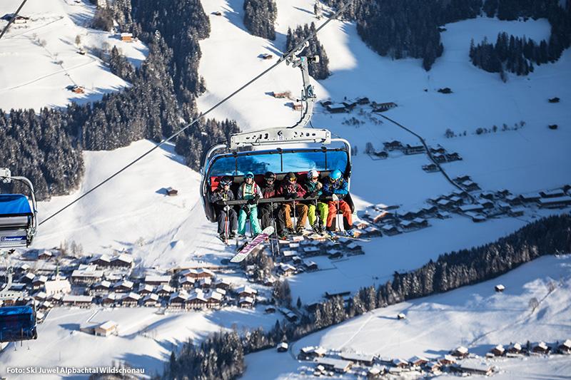 Sesselbahn Blick nach Alpbach