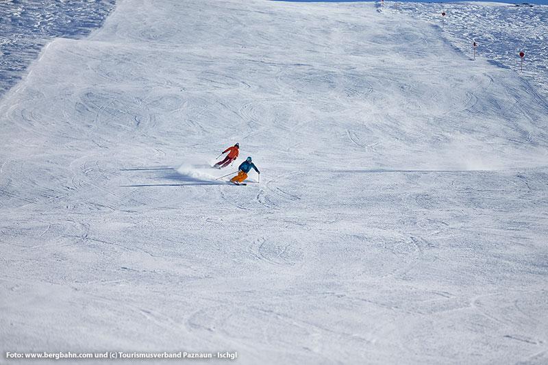 Breite Piste im Skigebiet See