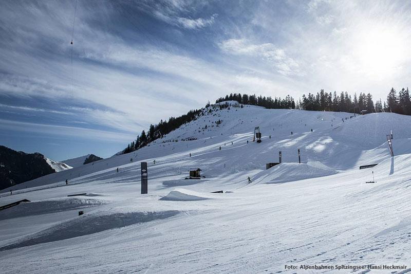 Der Snowpark zählt zu den besten Deutschlands