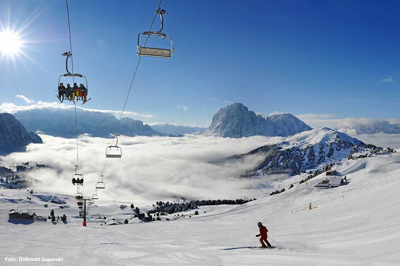 Skifahren im Skigebiet Val Gardena Gröden