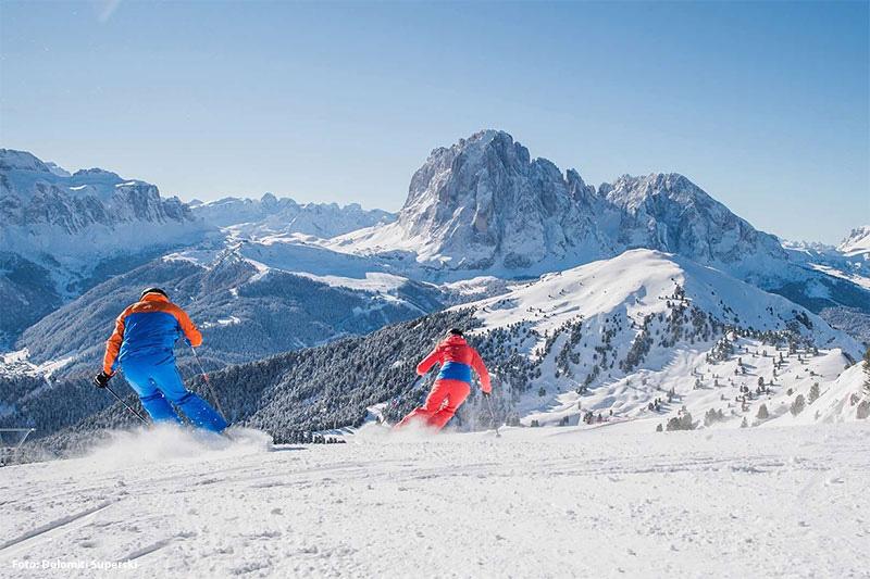 Skiurlaub im mehrfach preisgekrönten Skigebiet Gröden - Seiser Alm
