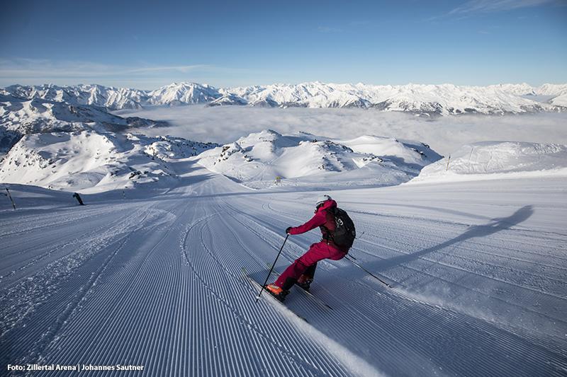 Das größte Skigebiet im Zillertal (Von Zell im Zillertal, Gerlos, Wald-Königsleiten und Krimml-Hochkrimml)