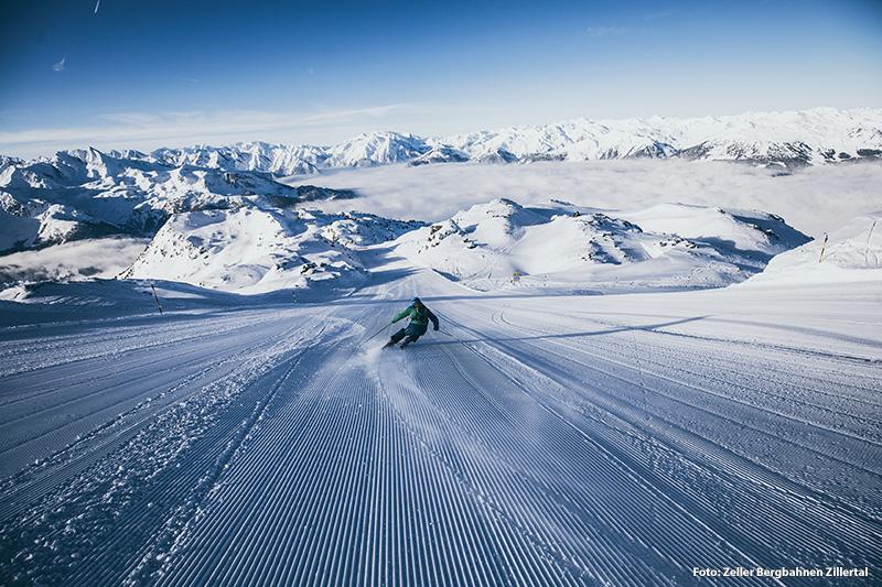 Perfekte Pistenverhältnisse im Skigebiet Zillertal Arena