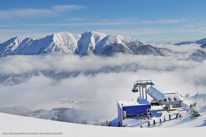 Gipfelpanorama Achenkirch Hochalmlifte Christlum