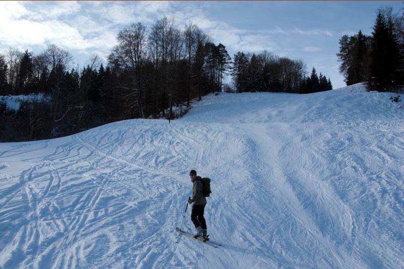 Skipiste im Skiegebiet Bischofswiesen - Götschen
